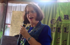 Traci does the story of Jonah - International Mission Trip in Tacloban
